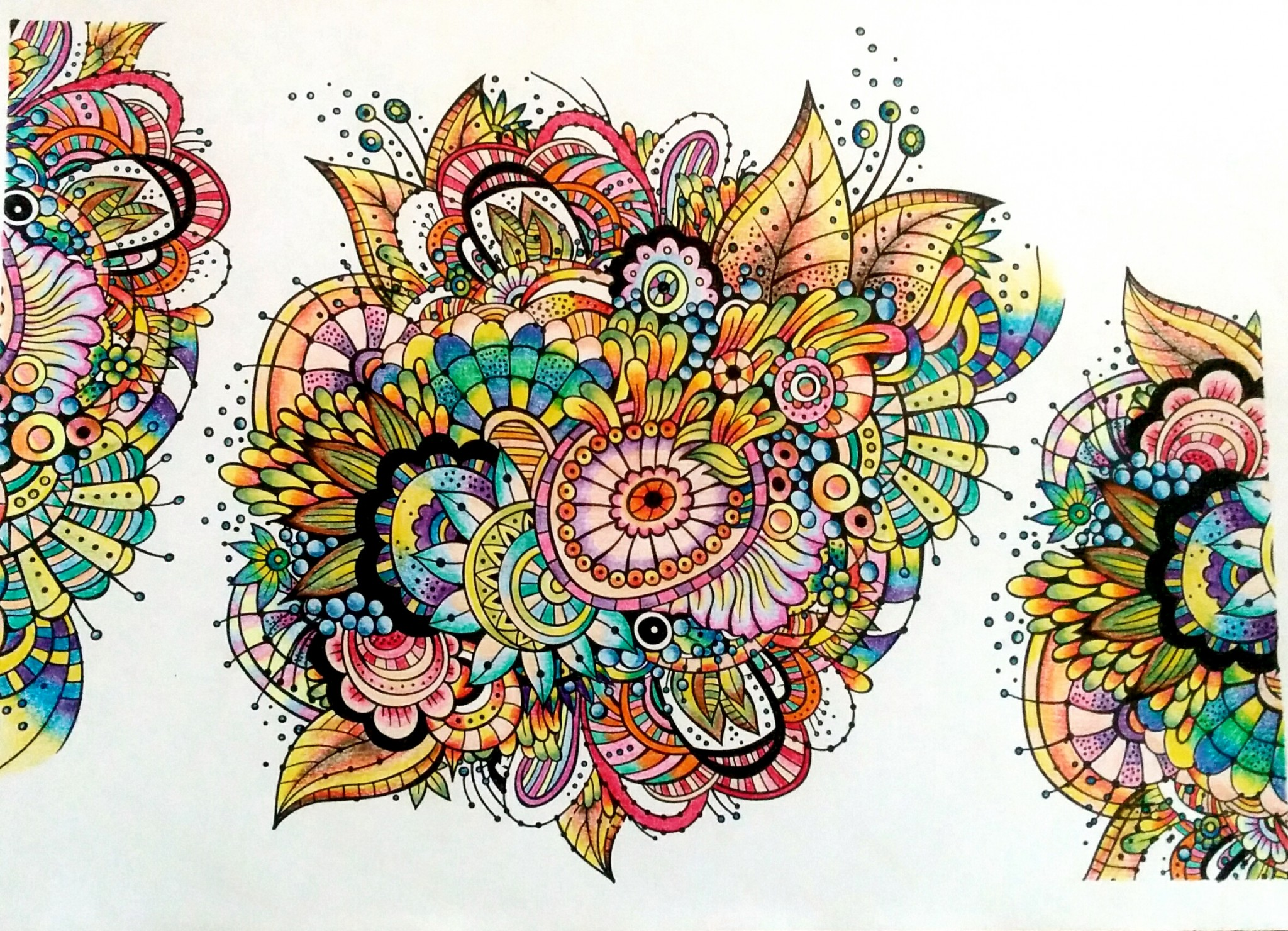 Detailed mandala coloring pages for adults